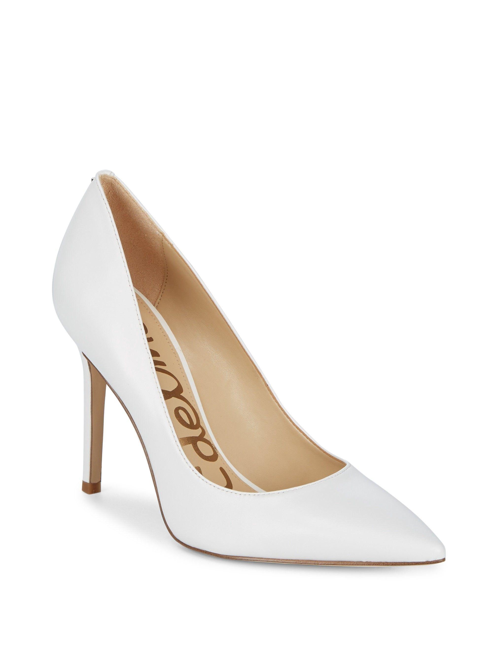 a05f8e57e Sam Edelman Hazel Leather Pumps - Bright White 38.5 (8.5)