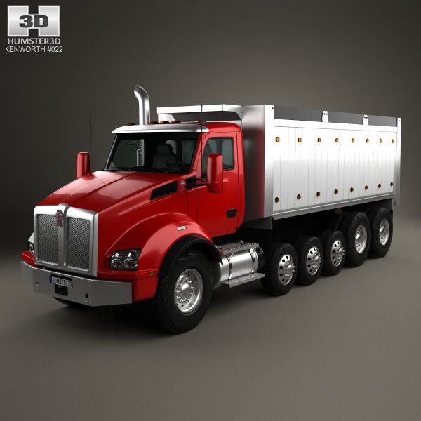 Kenworth T880 Dump Truck 6 Axle 2013 3d Model From
