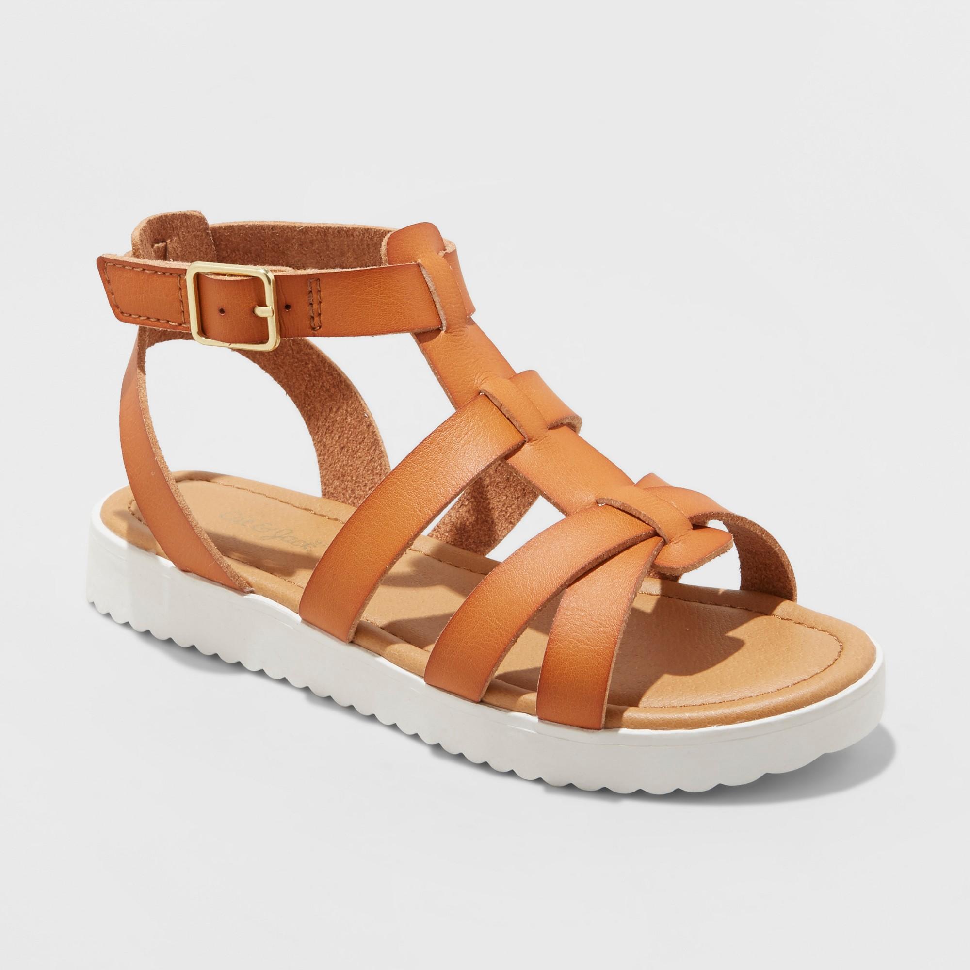 496ebe9d637c Girls  Antoinette Gladiator Sandals - Cat   Jack Cognac 13
