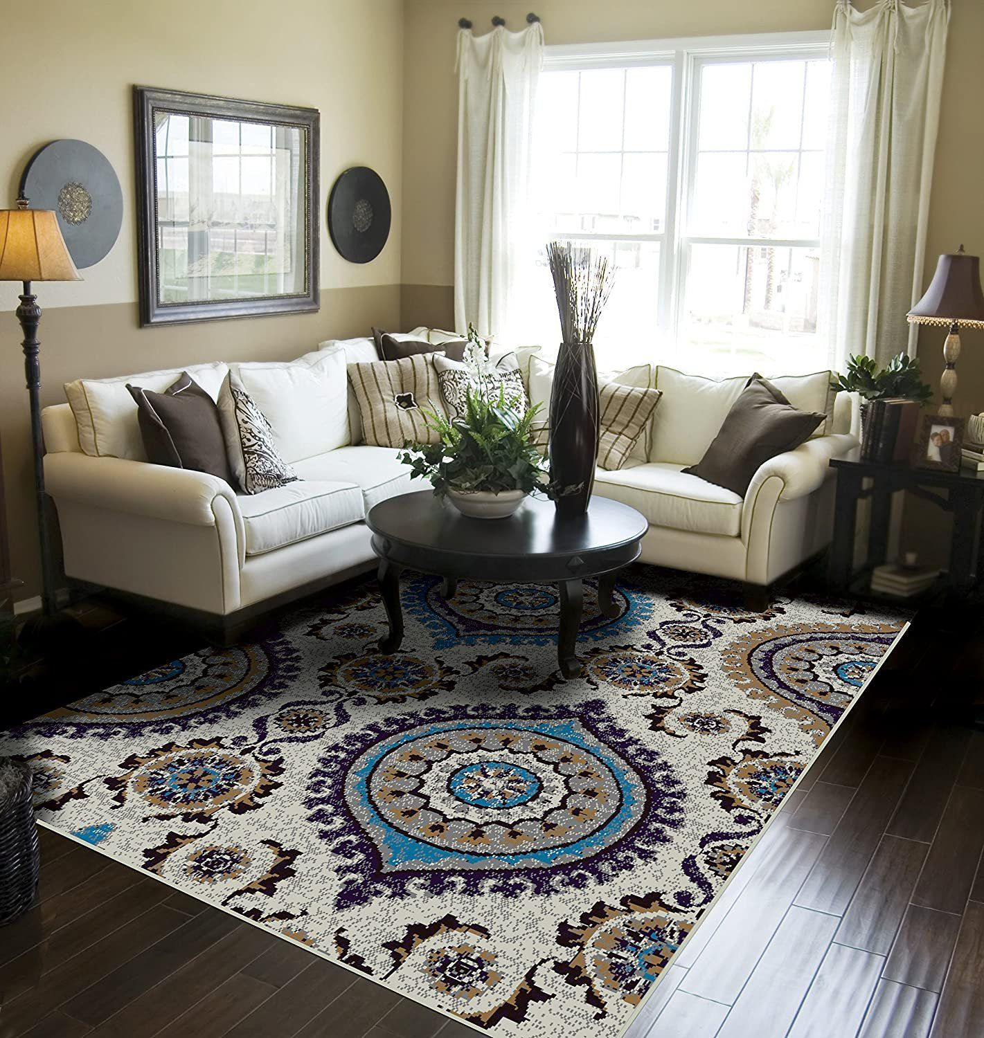 Blue Rug In Living Room Amazon Blue Rugs for Living Room ...