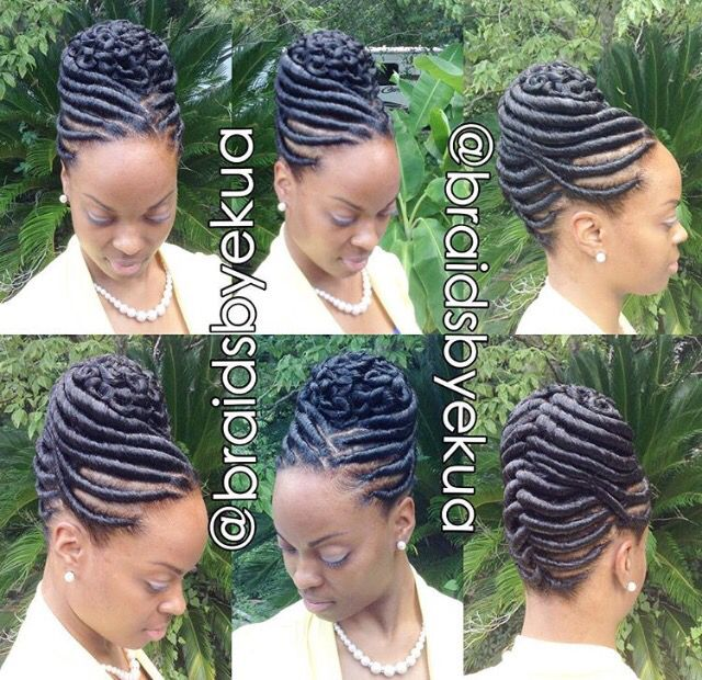 Pin By African American Hairstyles On Braid Y Bunch Uppity Do S Natural Hair Styles Hair Twist Styles African Braids Hairstyles