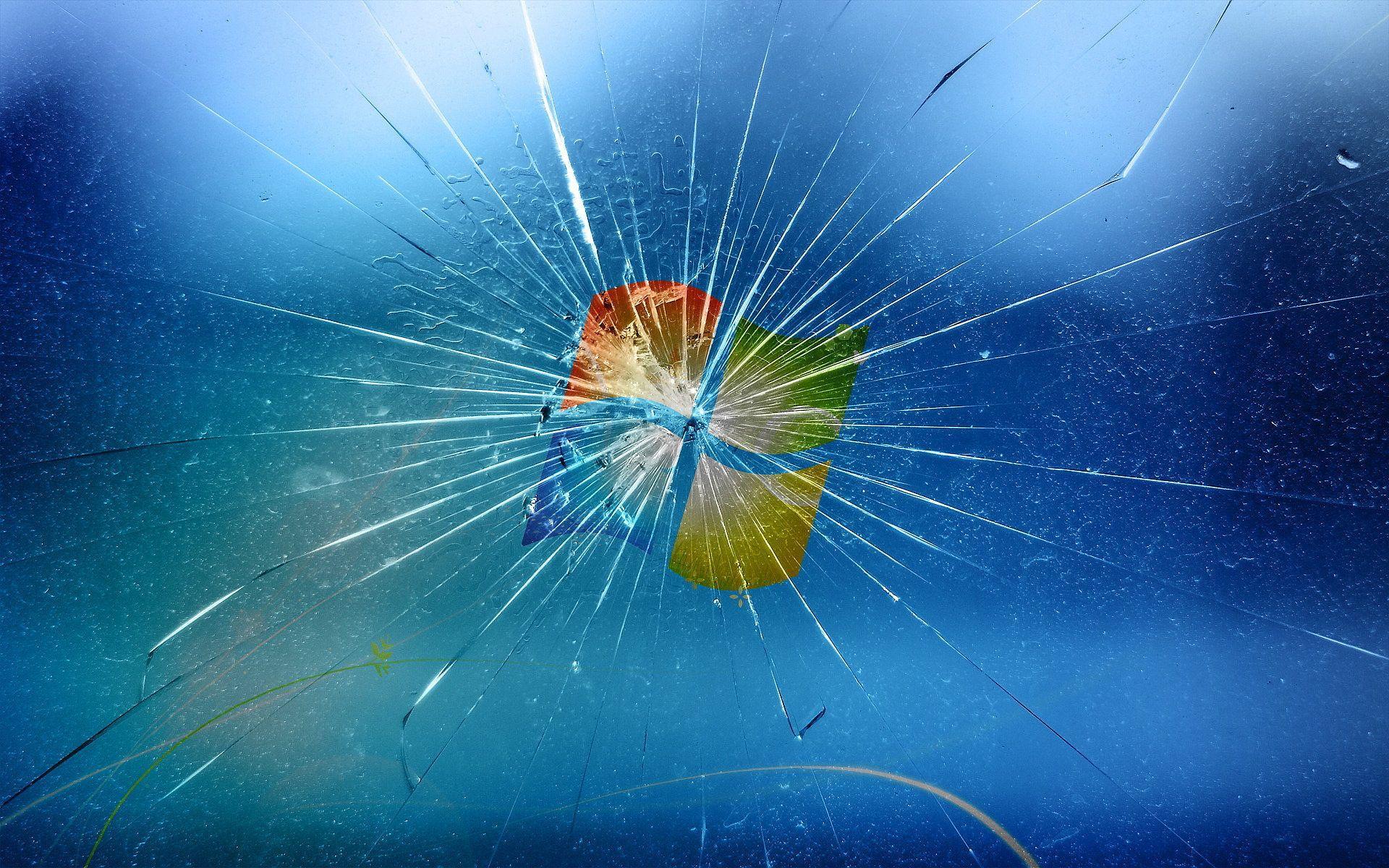 Broken Screen Wallpaper Windows 8