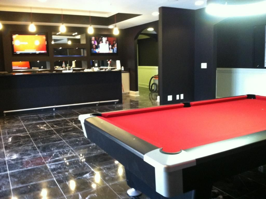 Man Cave Store Charlotte Nc : Brunswick black wolf pool table red felt by everything
