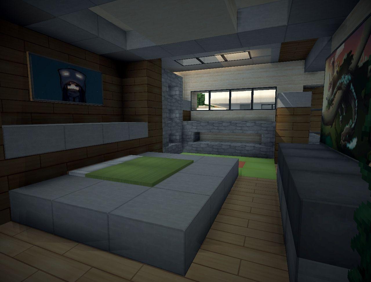 Modern Villa Minecraft Map Minecraft Bedroom Minecraft House