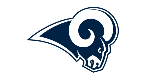 Los Angeles Rams Primary Logo 2017 Ram Head In Blue And White Used As Primary Logo Starting In 2017 Season Desp Los Angeles Rams Logo Nfl Logo Nfl History