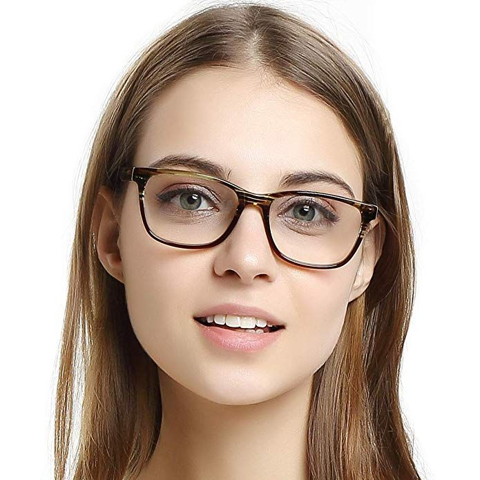 dd534dbf9e9e OCCI CHIARI Womens Rectangle Stylish Eyewear Frame Non-Prescription Clear  Eyeglasses Review