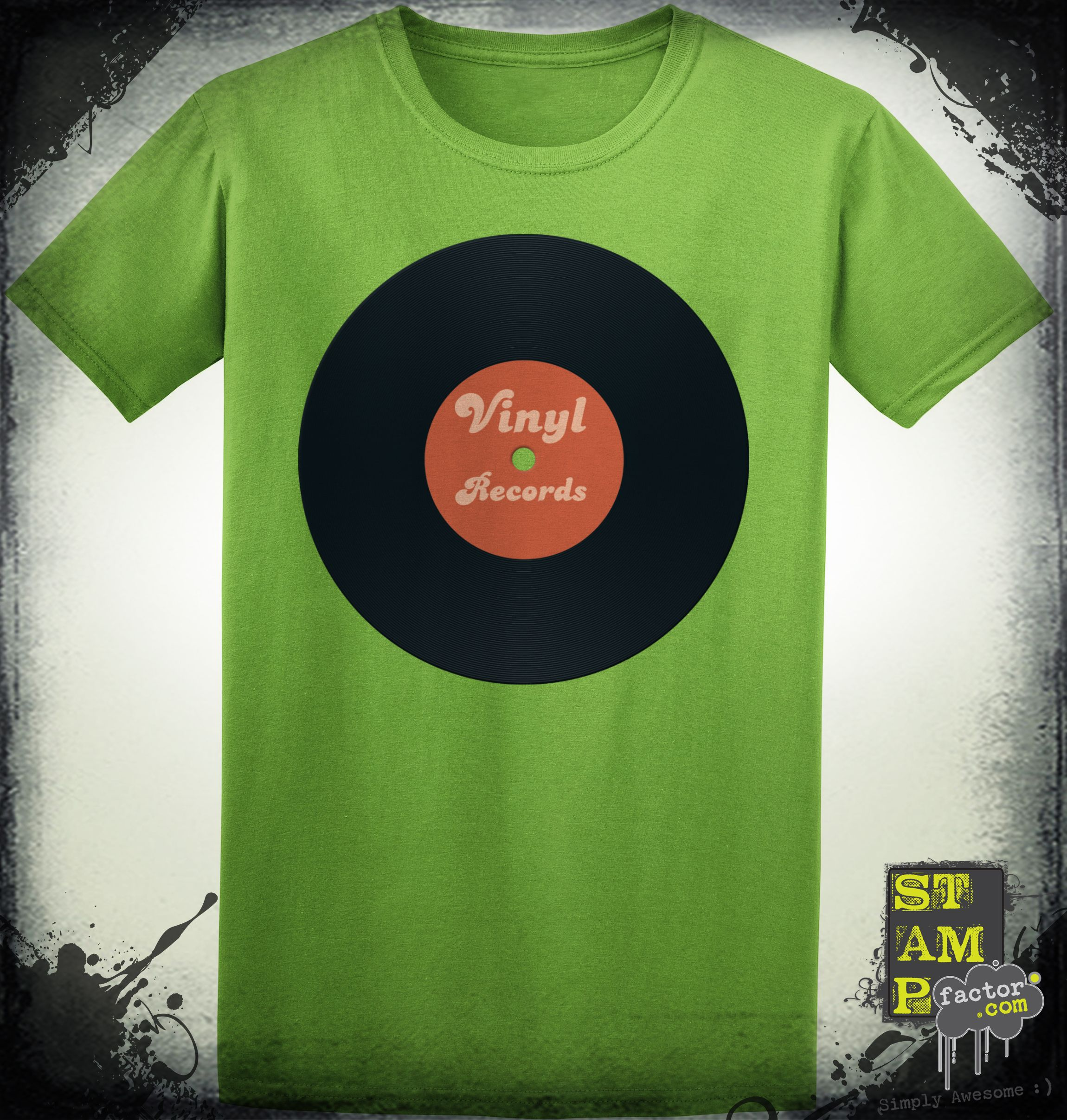 I Love Vinyl (Version 03) 2015 Collection - © stampfactor.com *T-SHIRT PREVIEW*
