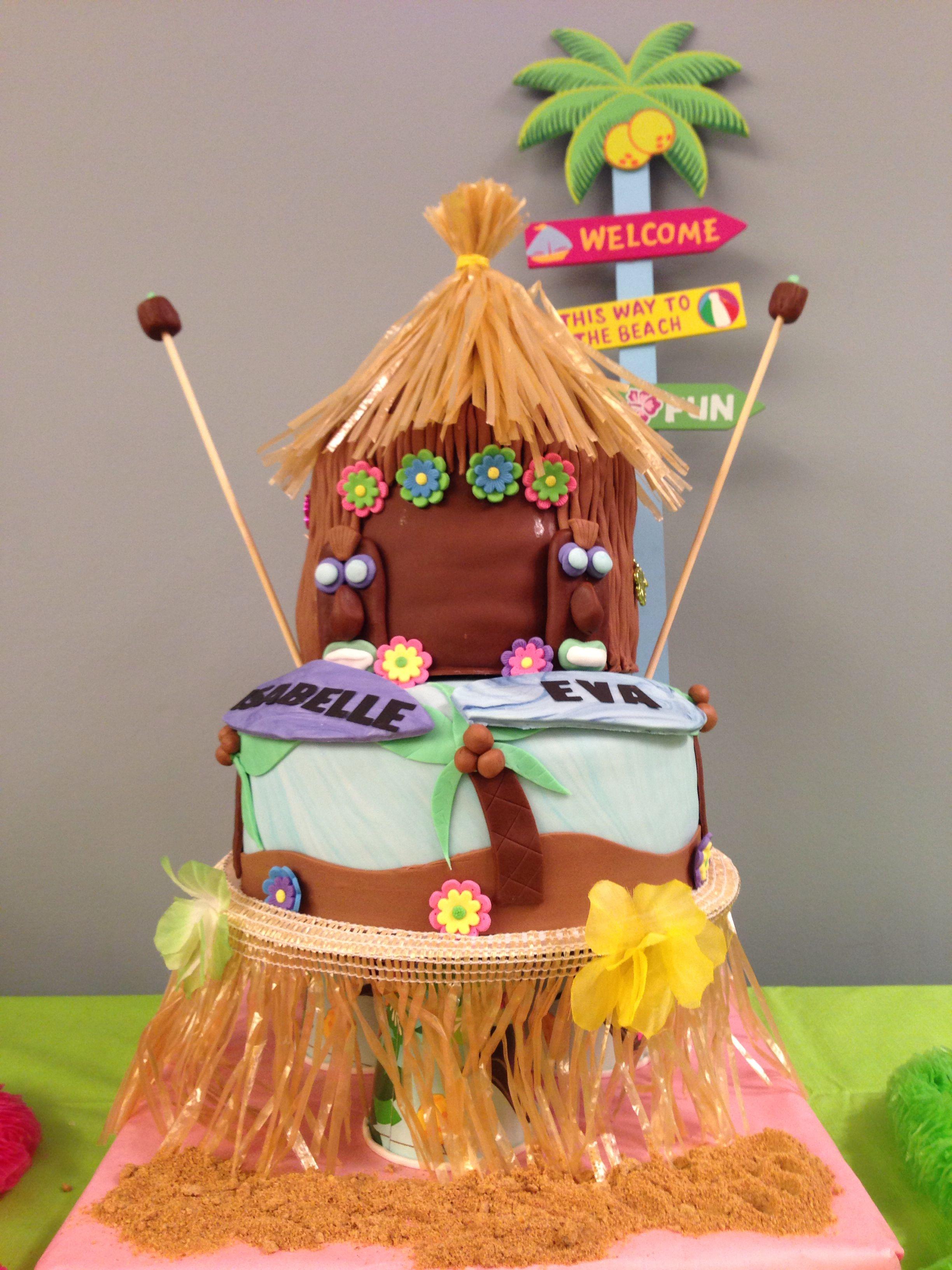 Eva & Isabelle's 8th Birthday - 'Tiki Hut' - Chocolate & coconut