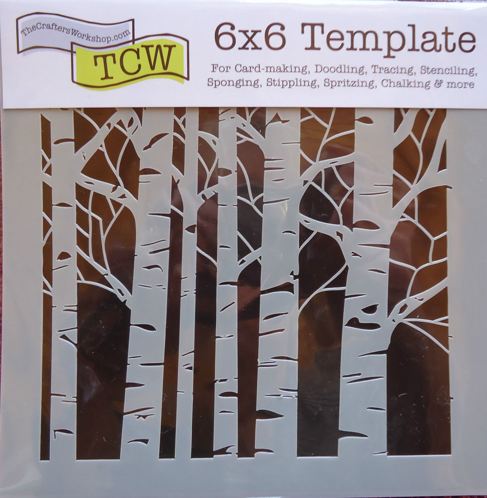 Template 6x6 Aspen Trees Stencil The Crafters Workshop card ...