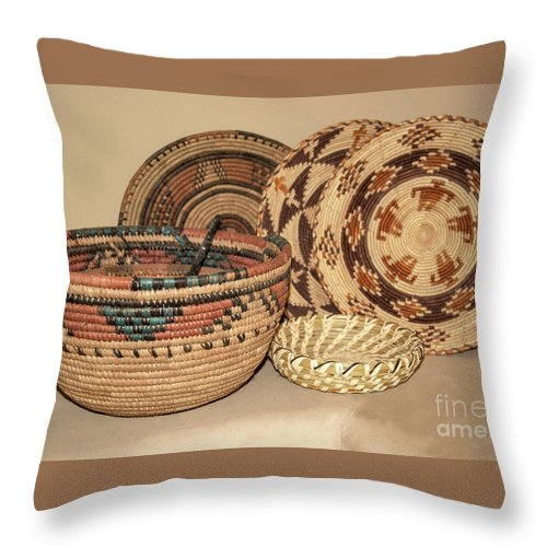 Native American Indian Woven Baskets Make Beautiful Southwestern Decor Throw Pillow For Sale By Georgia Evans Decorative Throw Pillows Native American Indians Throw Pillows
