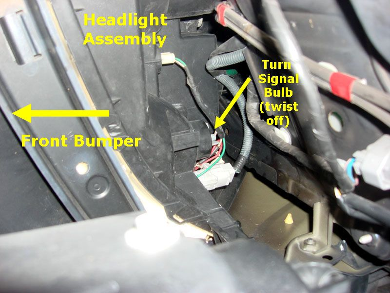 here s how to change front right turn signal bulb with photos in rh pinterest com lexus gx470 oem headlight assembly 2003 lexus gx470 headlight assembly