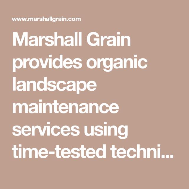 Marshall Grain S 2020 Organic Lawn Care Program Organic Lawn Organic Lawn Care Landscape Maintenance