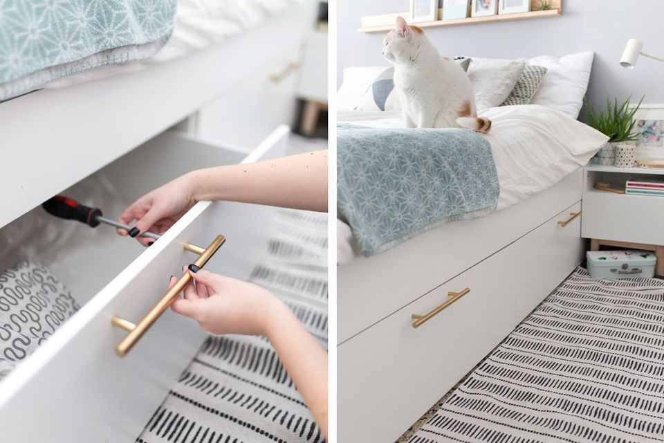 21 Best Ikea Storage Hacks For Small Bedrooms Ikea Malm Bed