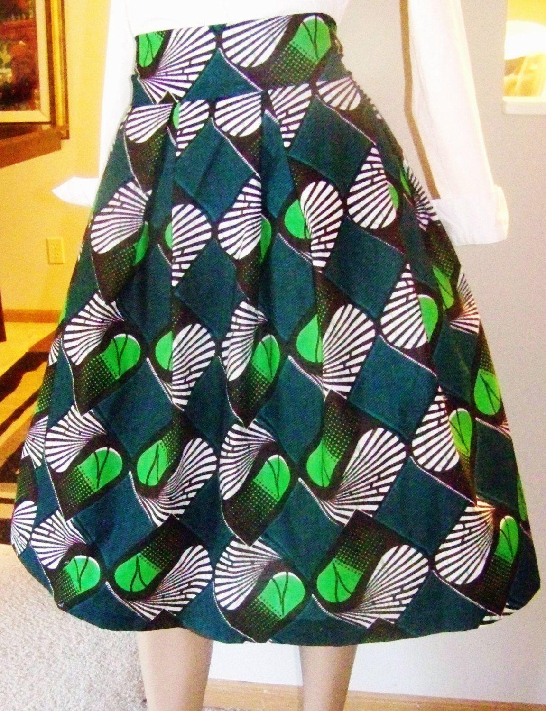 AFRICAN WAX PRINT Skirt Ankara African Skirt great for