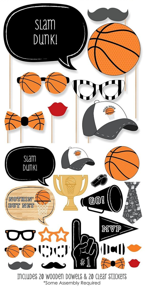Basketball Party Treats And Diy Decorations Basketball Party Sports Party Decorations Sports Themed Party