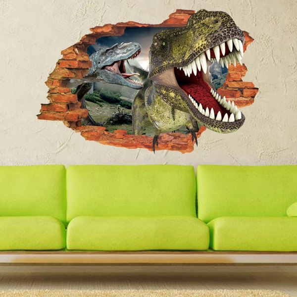 5.93$  Buy here - http://di32y.justgood.pw/go.php?t=187621401 - Active Removable 3D Dinosaurs Forest Wall Art Sticker