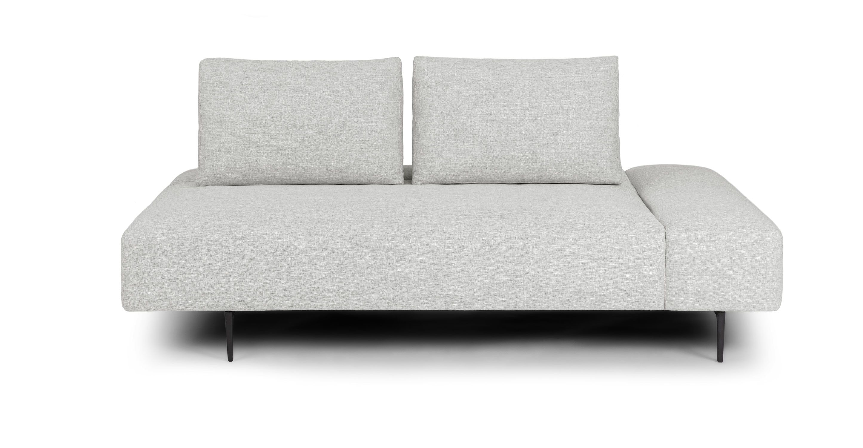 Divan Mist Gray Daybed Daybed Mid Century Modern Sofa Grey