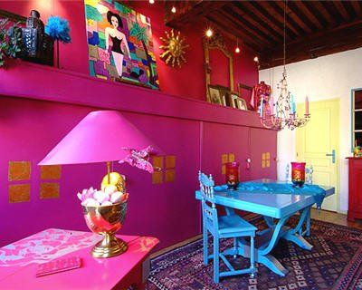 Room Bright Pink Dining