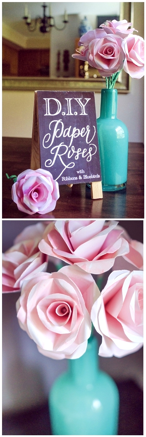 diy paper roses @capitolromance | #easy flower craft, great for gifting / gift