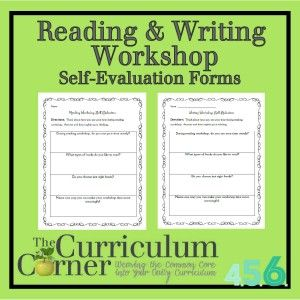 Reading  Writing Workshop Self Evaluation Forms  Teacher
