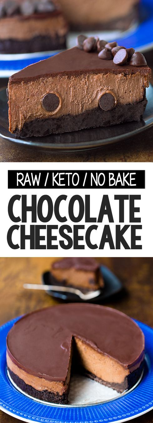 Raw Keto No Bake Healthy Chocolate Cheesecake Recipe That Is Low Carb And Can Be Sug Chocolate Cheesecake Recipes Healthy Chocolate Low Carb Recipes Dessert
