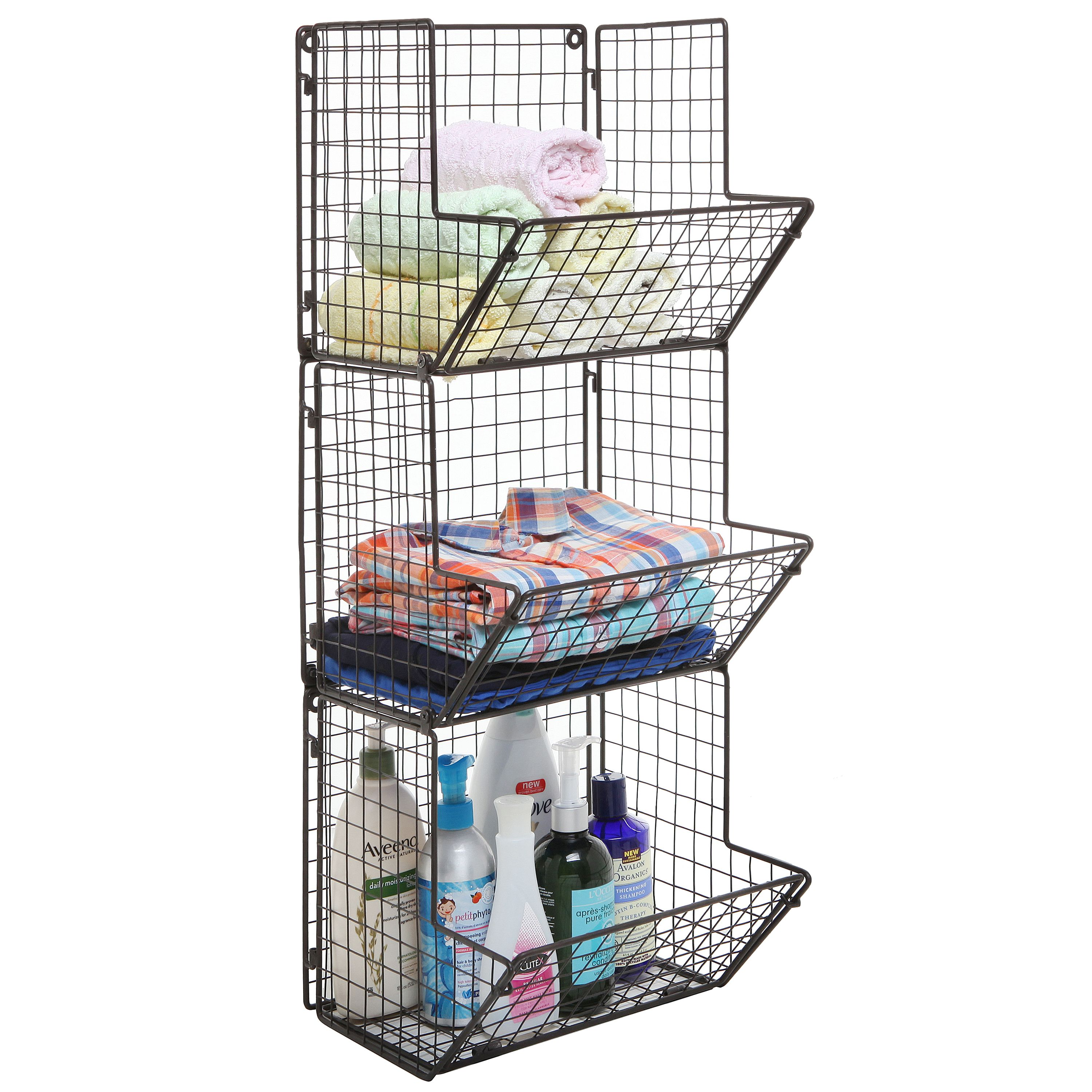 Home In 2020 Wall Mounted Wire Baskets Towel Basket Baskets On