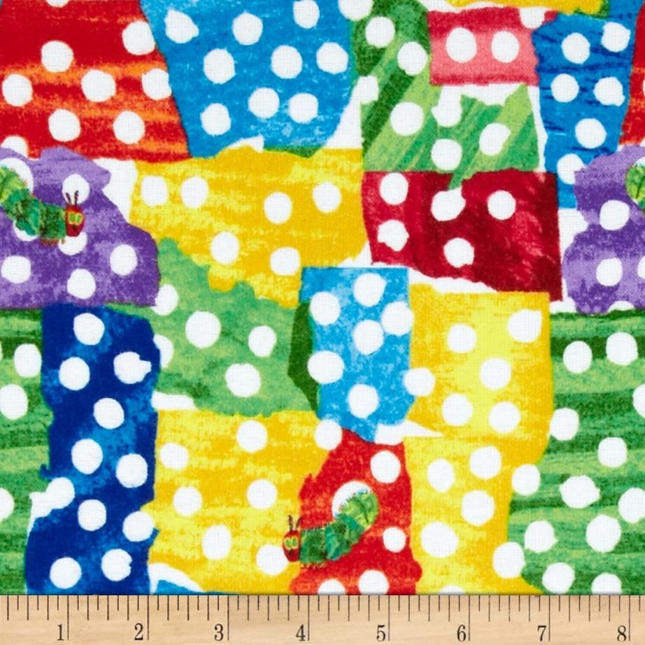 The Very Hungry Caterpillar Flannel Dots Multi - for flannel car ...