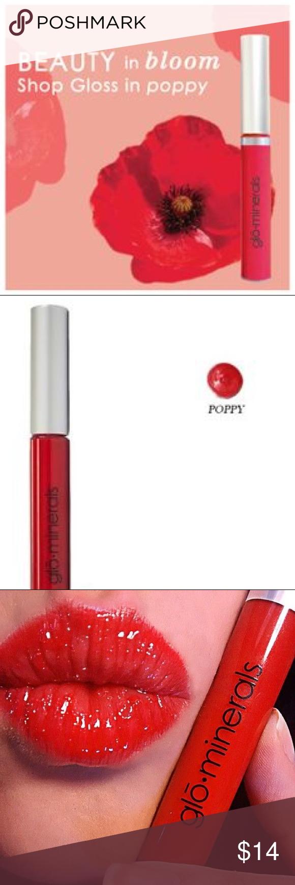 POPPY GLOminerals Lip Gloss NWT Glo mineral makeup, Lip