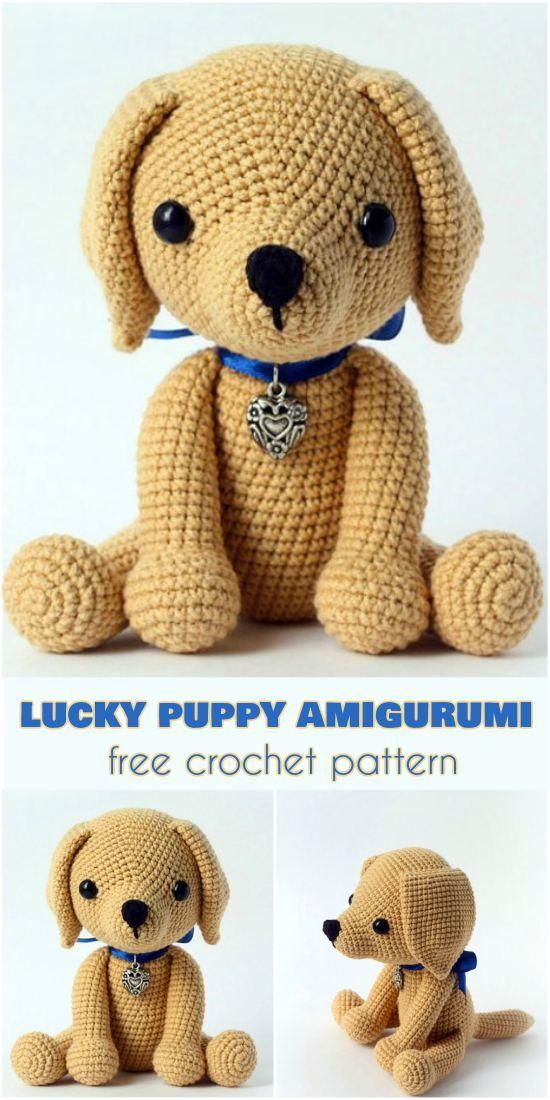 Lucky Puppy Amigurumi [Free Crochet Pattern] | Pinterest | Free ...