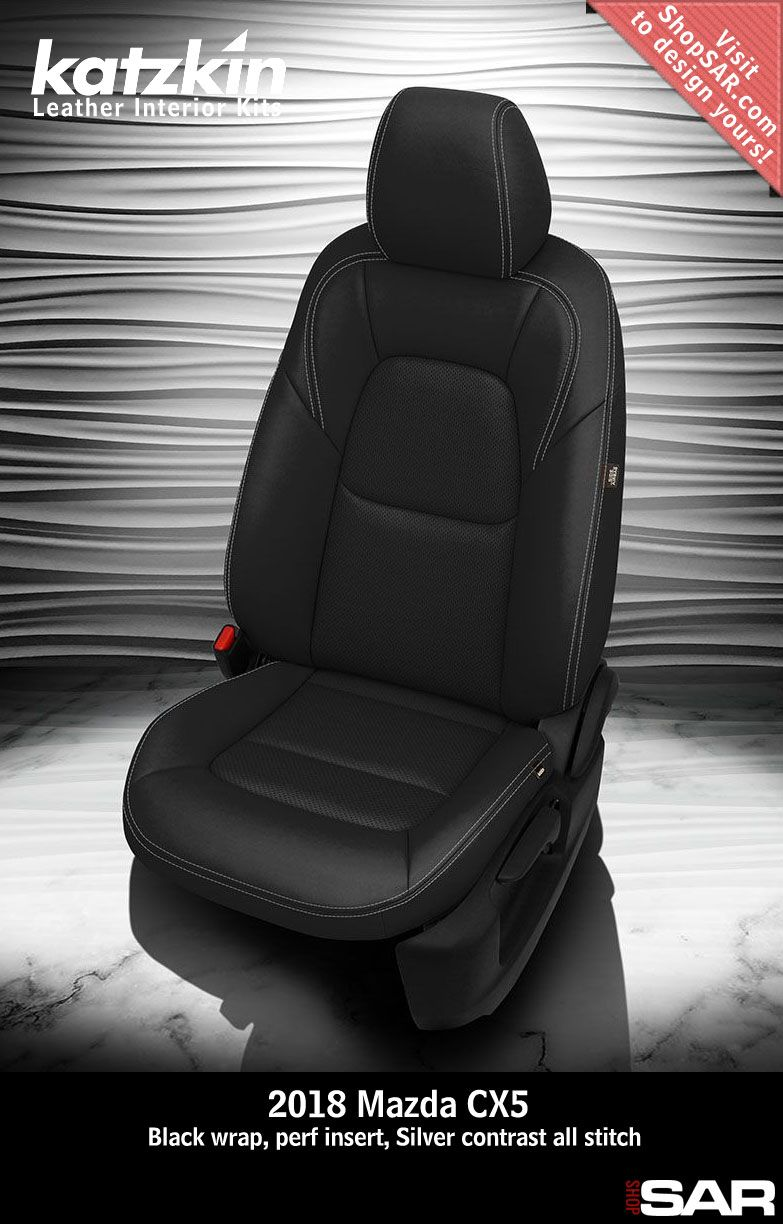 2016 MAZDA CX-5 TOURING CUSTOM BLACK PERF LEATHER UPHOLSTERY SEAT COVER SET