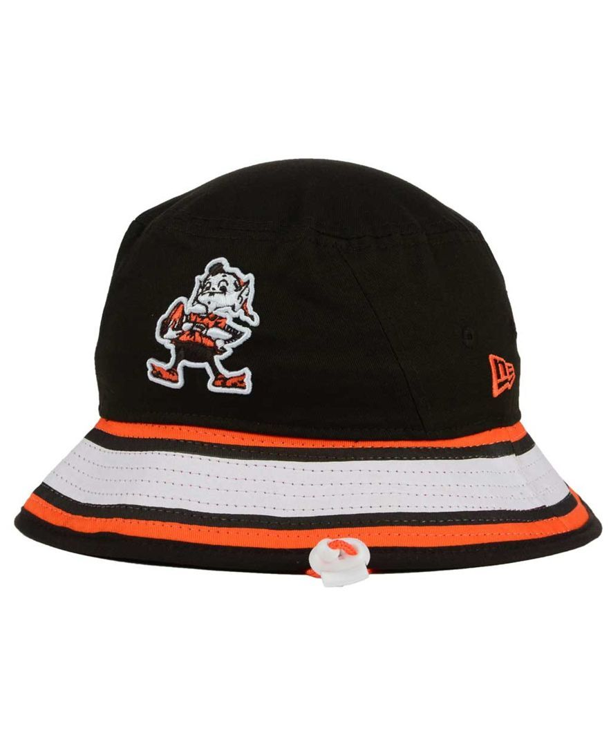 quality design 70458 fc133 ... czech new era cleveland browns team stripe bucket hat 0104b 3c509