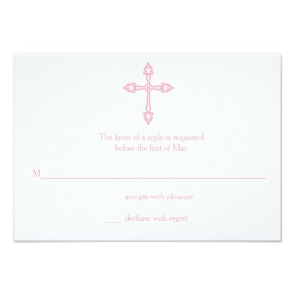 Modern elegant cross first communion rsvp card invitations custom invitation ideas stopboris Choice Image