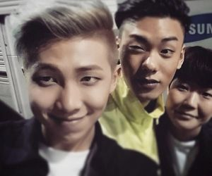 Rap Monster Iron And Some Other Guy Girl Can T Tell Iron Rapper Rap Monster Bts Rap Monster