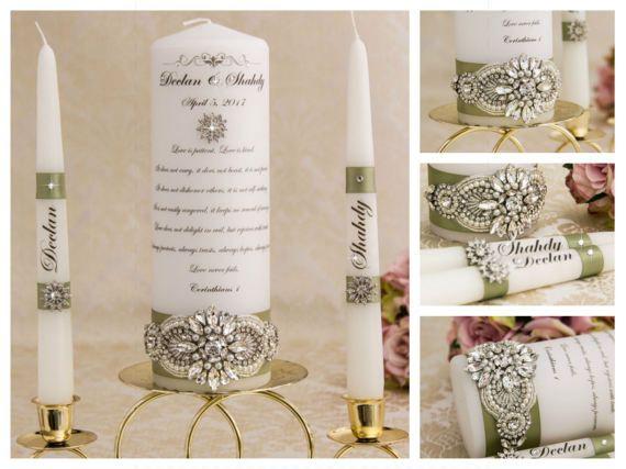 Unity Candle Set Personalized Unity Candle Wedding Candles Etsy In 2020 Wedding Unity Candle Set Personalized Unity Candle Unity Candle Sets