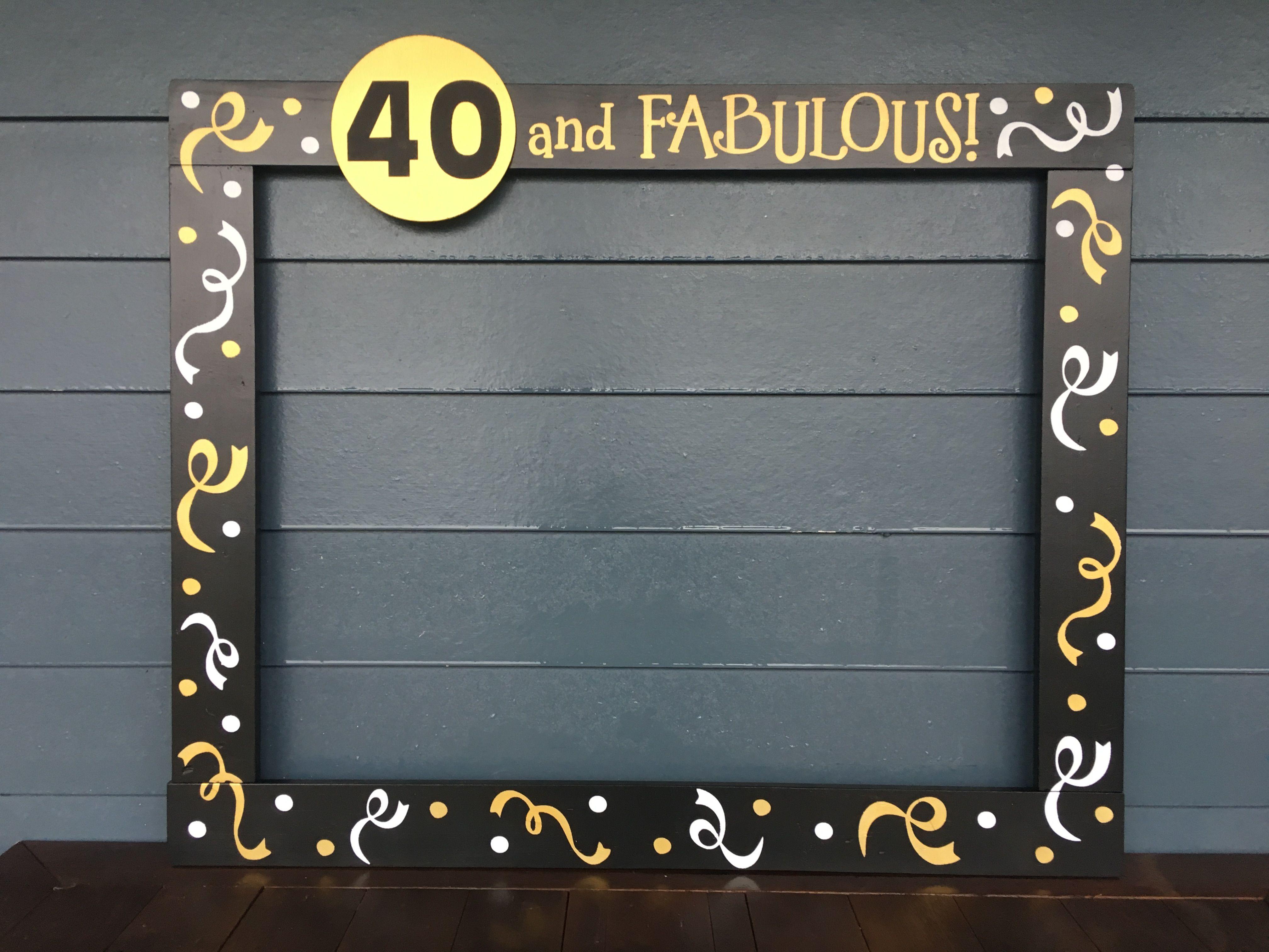 Milestone Birthday Photobooth Frame - Wood Frame Prop - Birthday ...