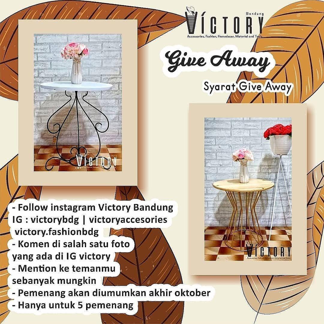 Kabar Gembira Give A Way Di Bulan Oktober Ini Toko Victory Bakalan Kasih Kamu Hadiah Menarik Loh Ada Untu Place Card Holders Decor Place Cards