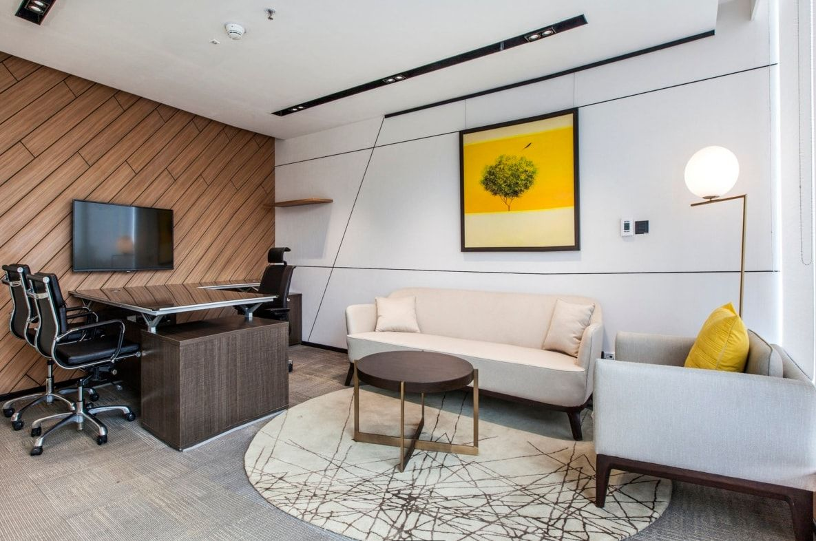 Office Space That Is Modern And Exudes Warmth Space Matrix