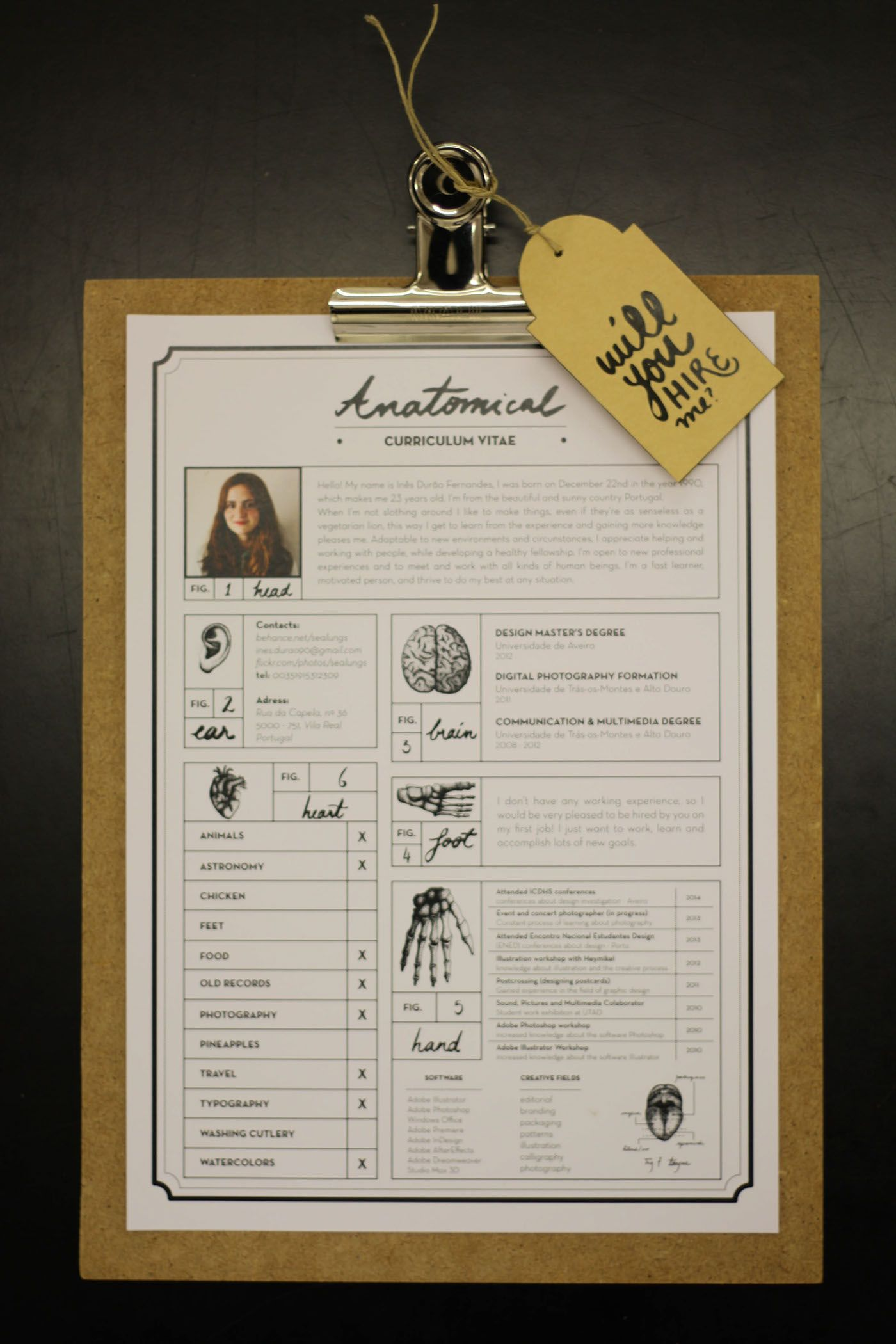 Anatomical Curriculum Vitae on Behance | Graphic Design | Pinterest ...