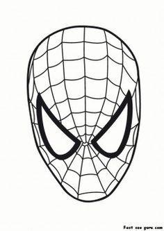 Printable Superheroes spiderman maske coloring pages  Printable