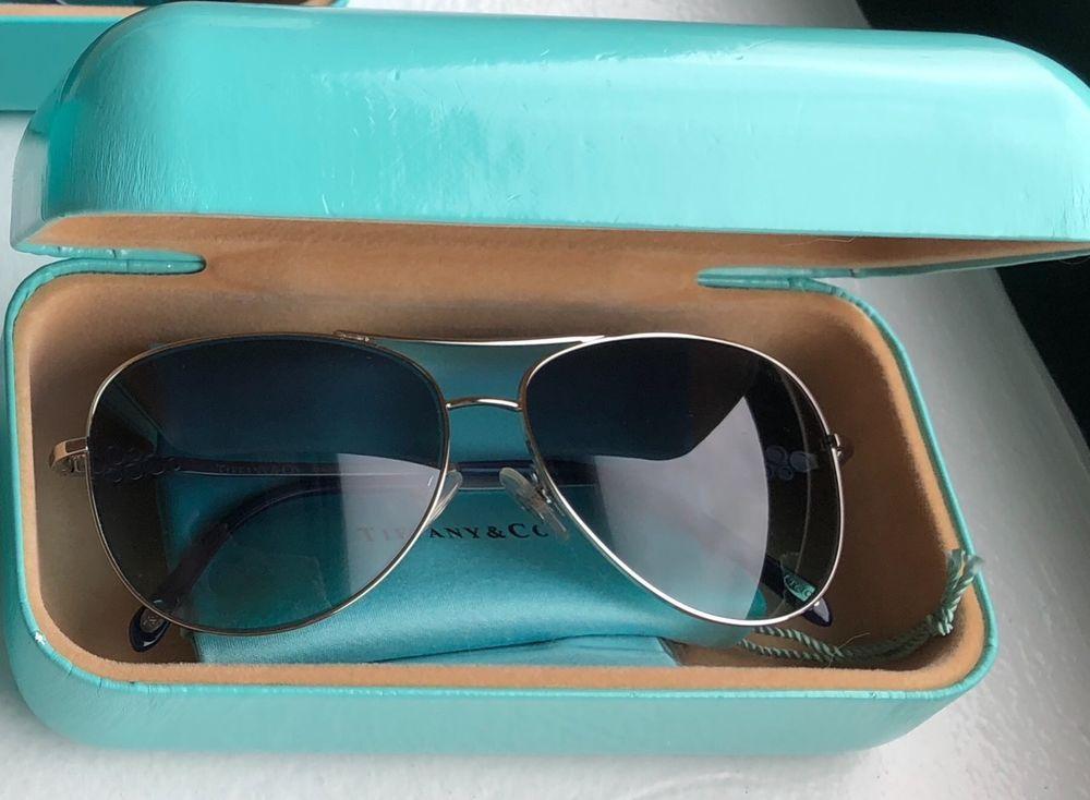 d07f5efb632b Brand new womens Tiffany sunglasses- Aviator blue lense silver frame   fashion  clothing  shoes  accessories  womensaccessories ...