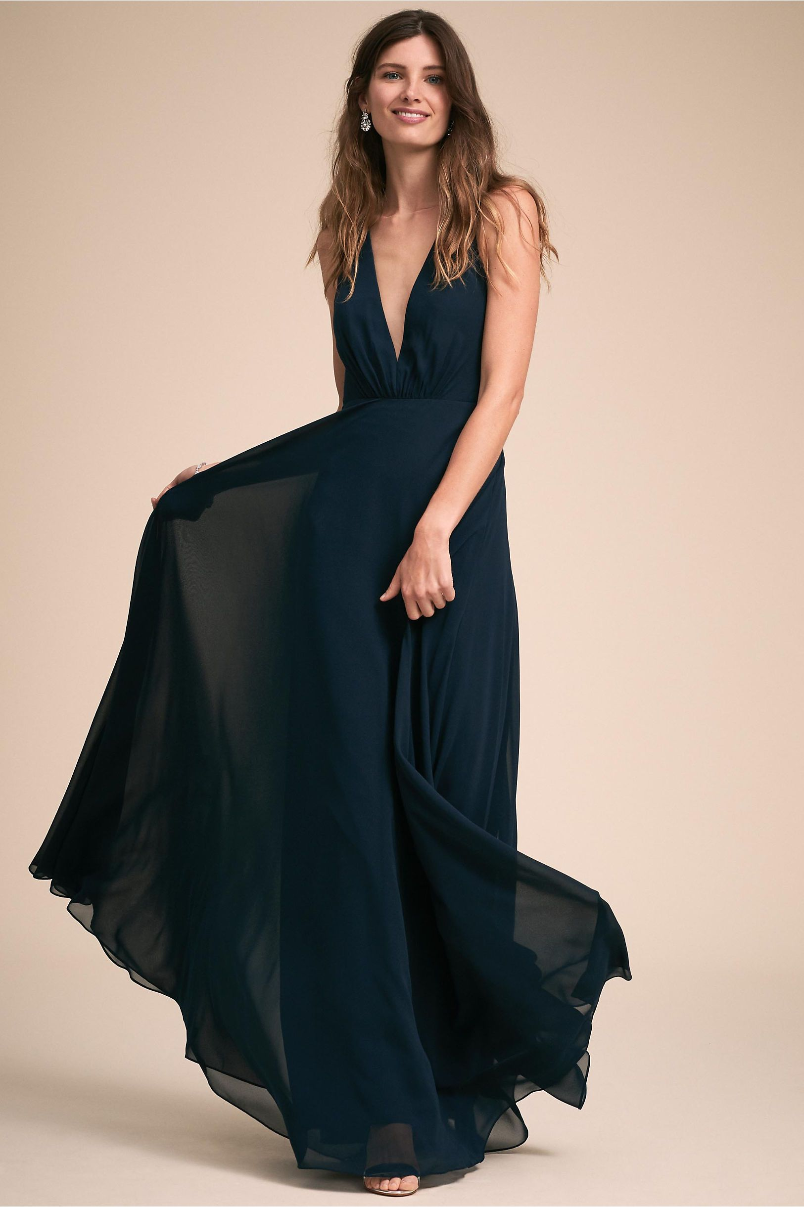 481d348447db BHLDN s Jenny Yoo Ryan Dress in Navy