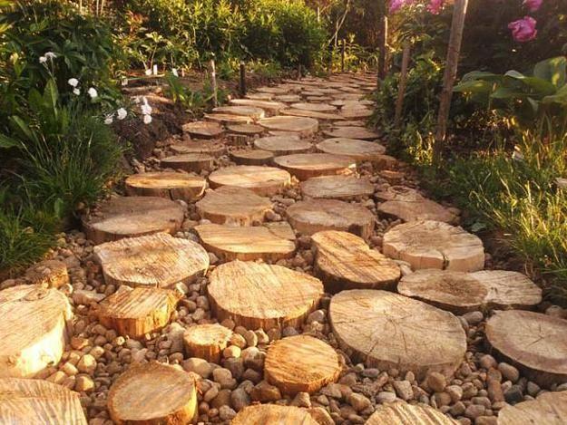 30 Green Design Ideas For Beautiful Wooden Garden Paths