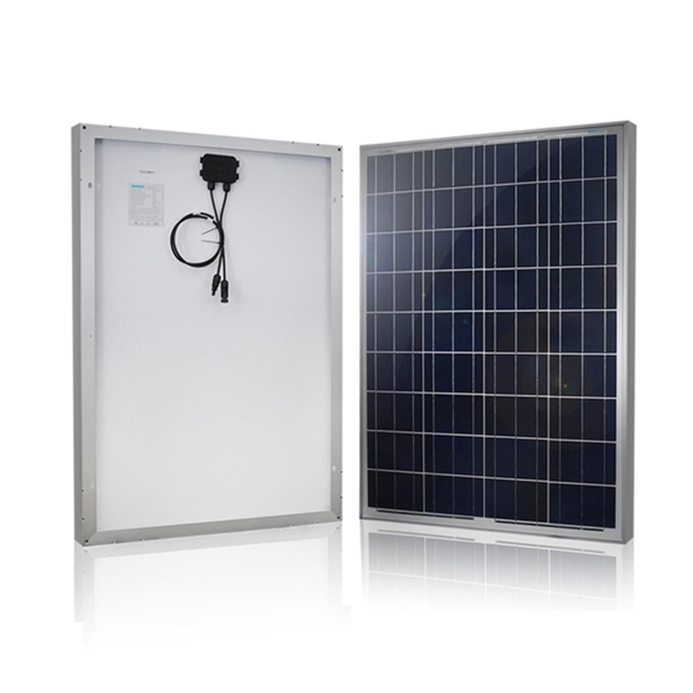 Renogy 100 Watt 12 Volt Polycrystalline Solar Panel For Rv Boat Back Up System Off Grid Application Rng 100p The Home Depot Solar Panel Kits 12v Solar Panel Best Solar Panels