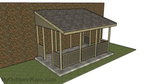 Lean to gazebo plans myoutdoorplans free woodworking for Pavilion style house plans