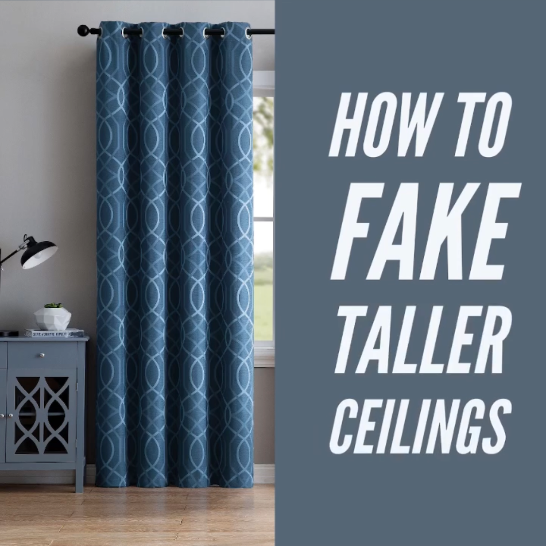 Want To Fake The Look Of Taller Ceilings Install Your Curtain Rod