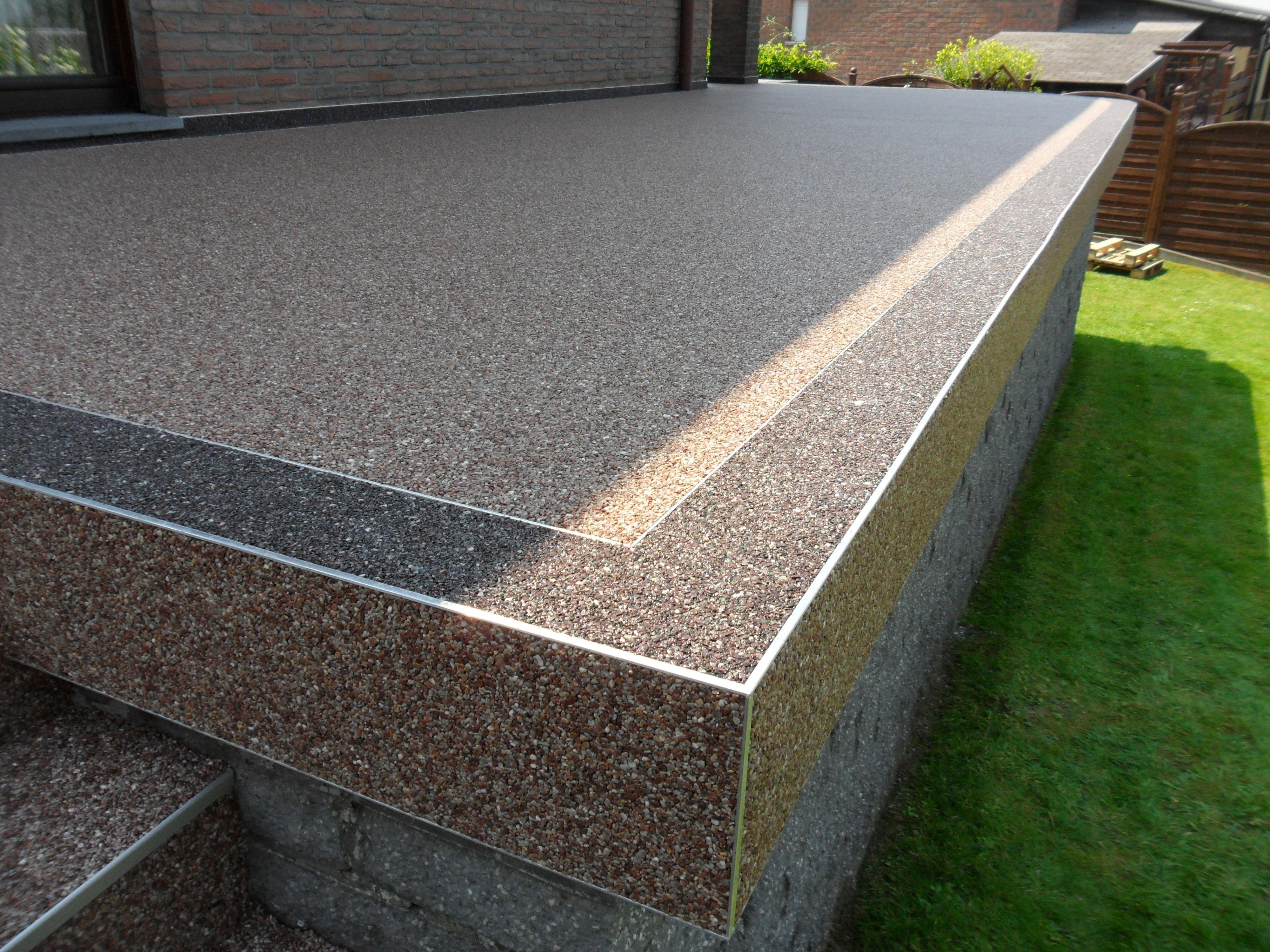 Steinteppich Terrasse Anwendungsbeispiel Hinterhof Terrassen Designs Terrassenrenovierung Moderner Garten