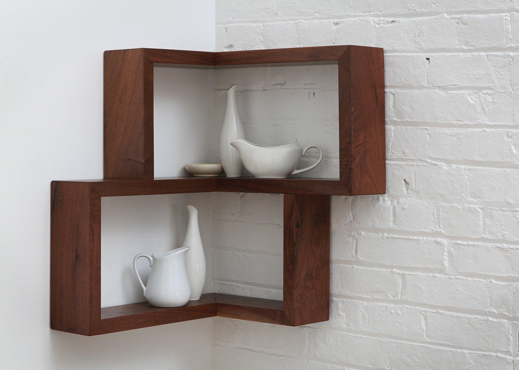 Franklin Shelf Solid Wood Corner Shelf In 2020 Pallet