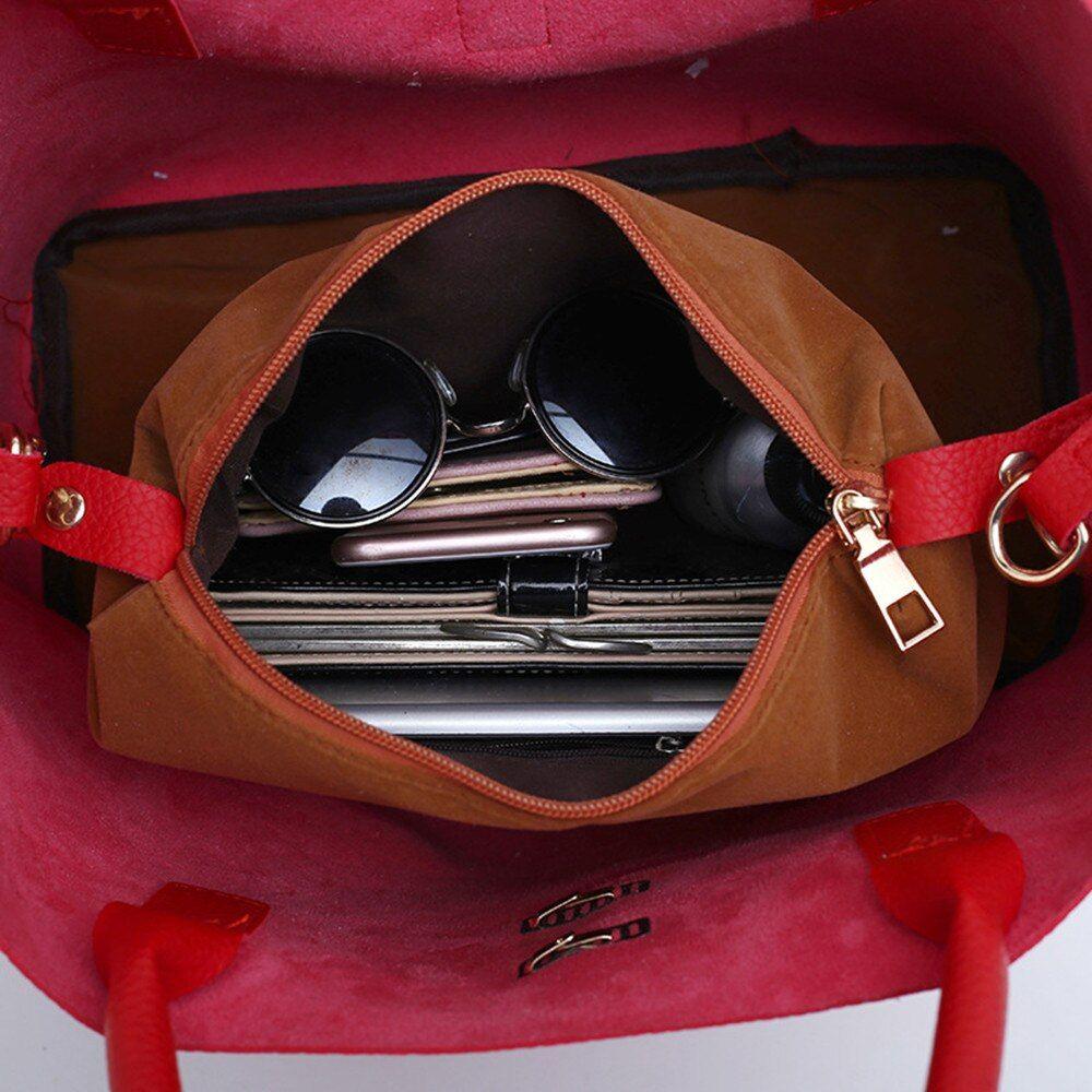 Pu Leather Handbag Beit Hasp