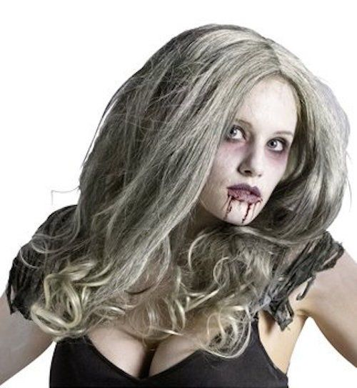 Zombie Wig Face Hair Queen Bride Princess Halloween