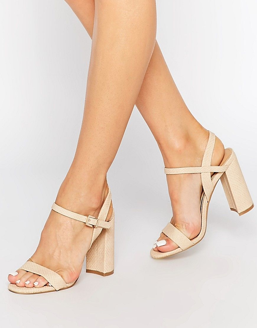 Head over Heels By Dune Maylie Nude Block Heeled Sandals at asos.com